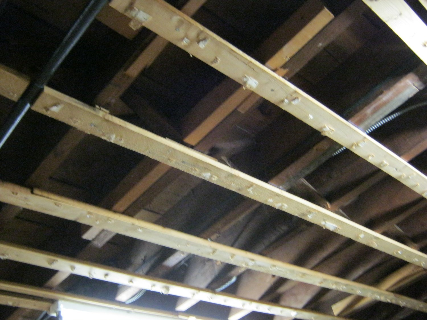 How to hang drywall on a ceiling - Building A Home Theater Step 2 Demolition Man High Def Digest The Bonus View