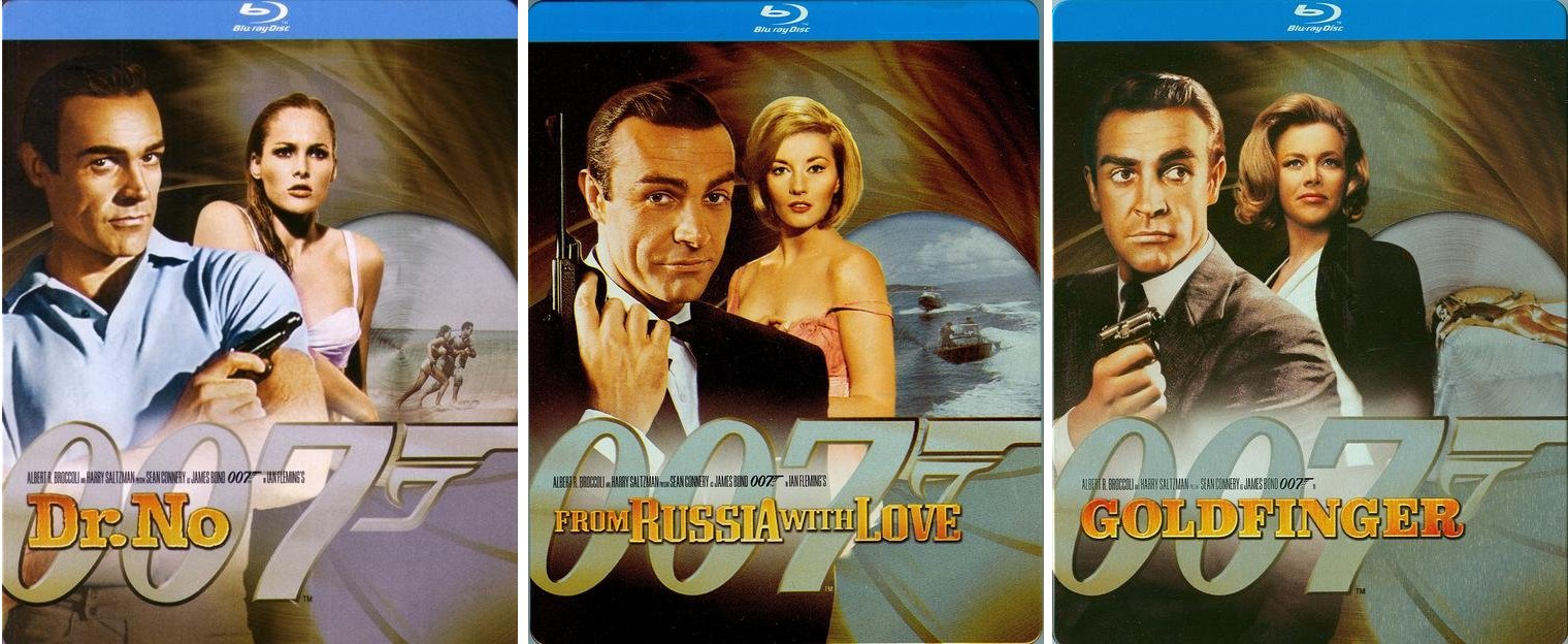 Dr. No, From Russia with Love & Goldfinger