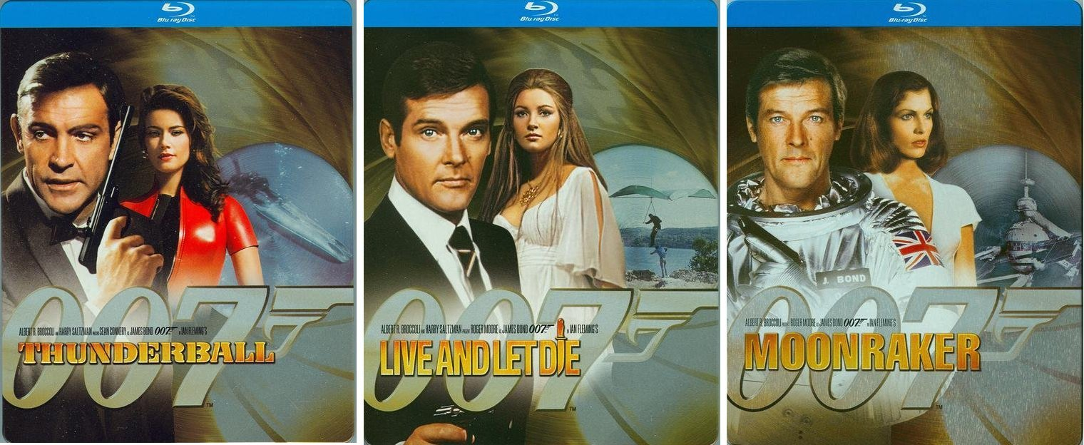 Thunderball, Live and Let Die & Moonraker
