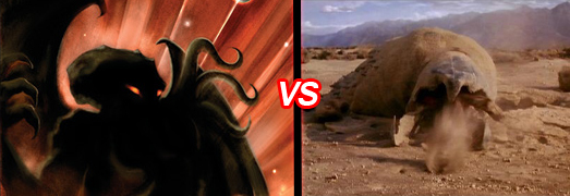 chtulhu graboid Monster Madness: The Mummy vs. Swamp Thing   Cthulhu vs. Graboid