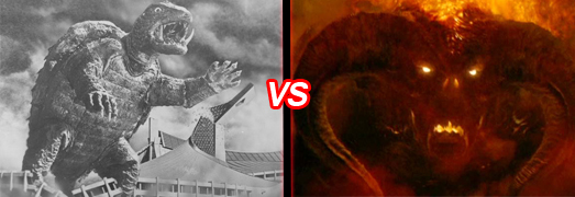 gamera balrog Monster Madness: Grendel vs. Predator   Gamera vs. Balrog