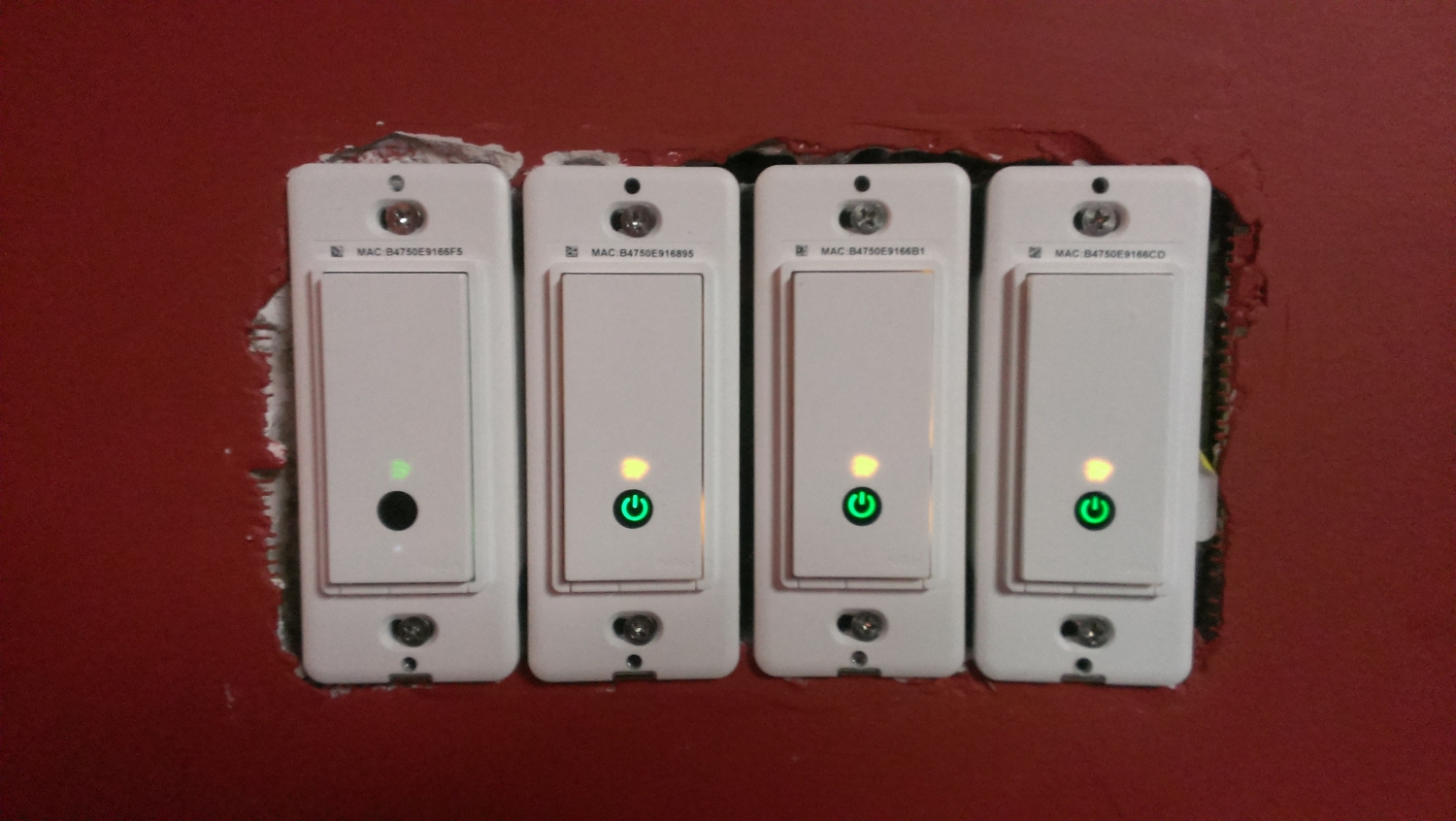 WeMo Installation - Switches without Gangplate