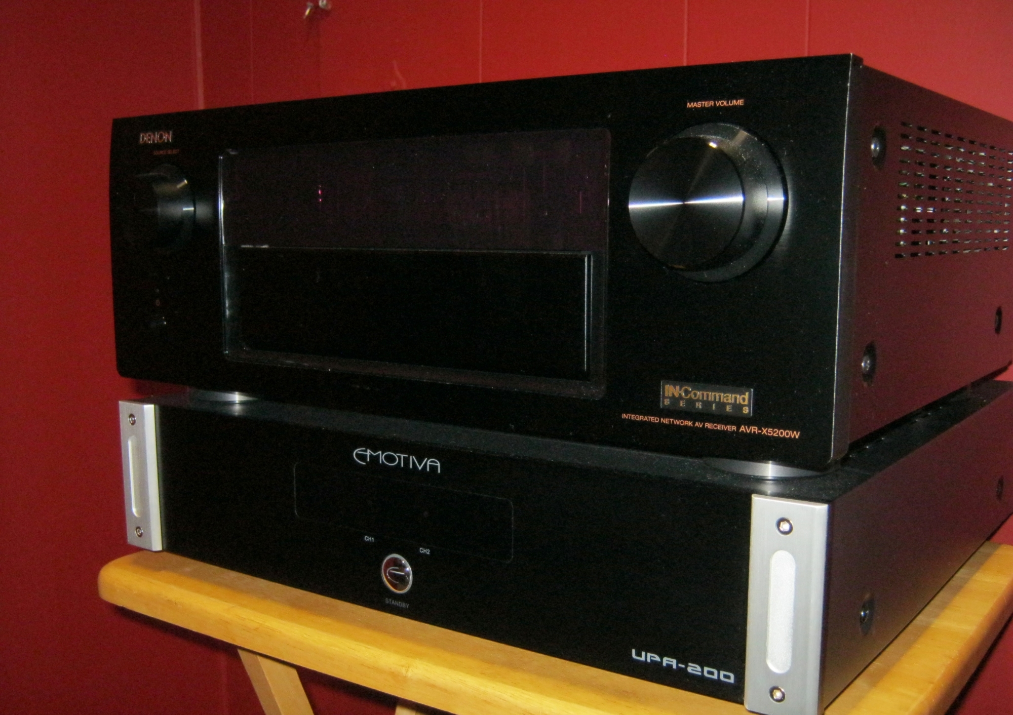 Denon Receiver and Emotiva Amp