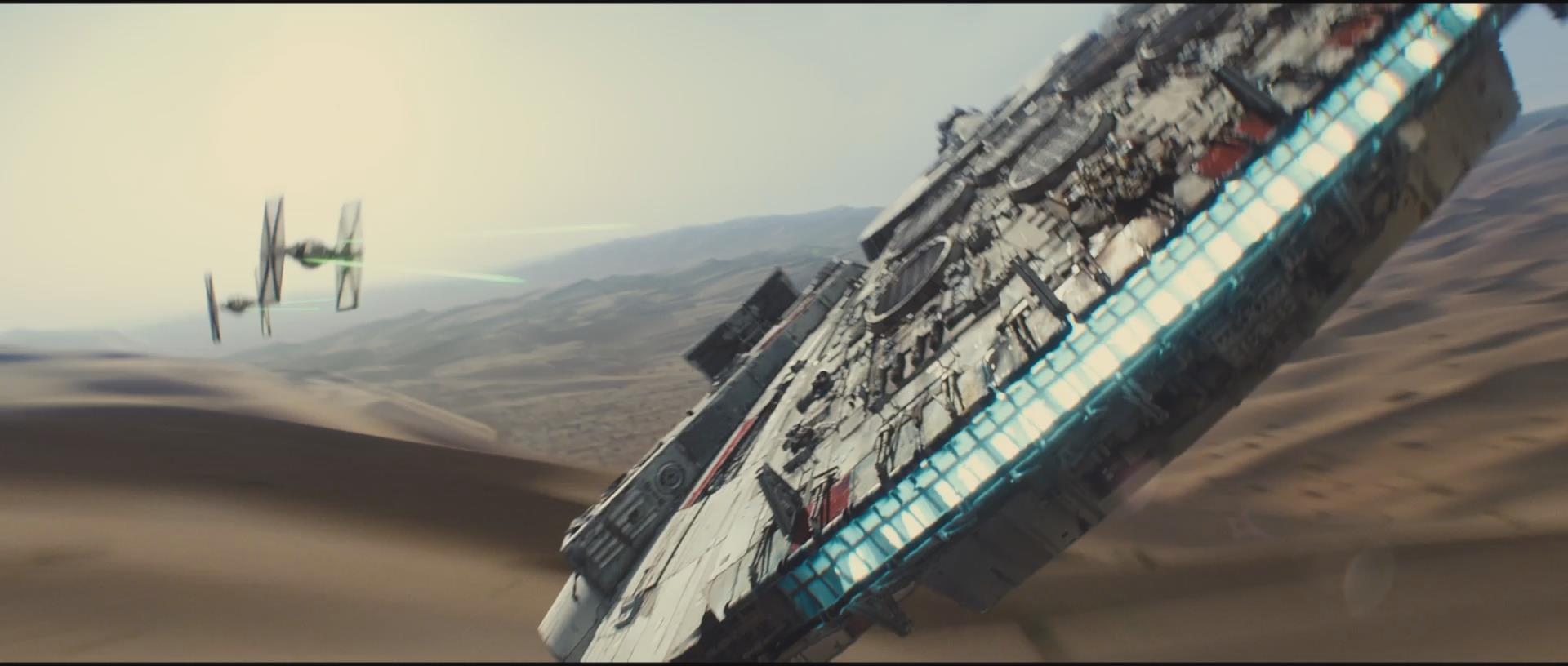 Star Wars – Millennium Falcon vs. TIE Fighters