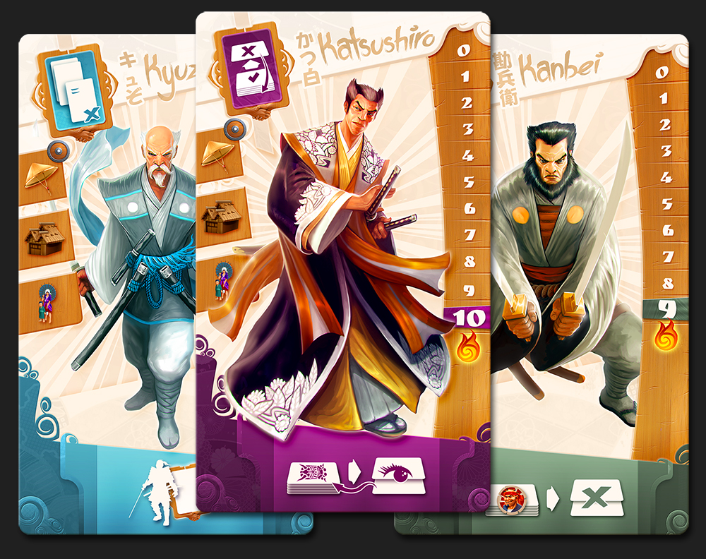 Samurai Spirit Player Boards