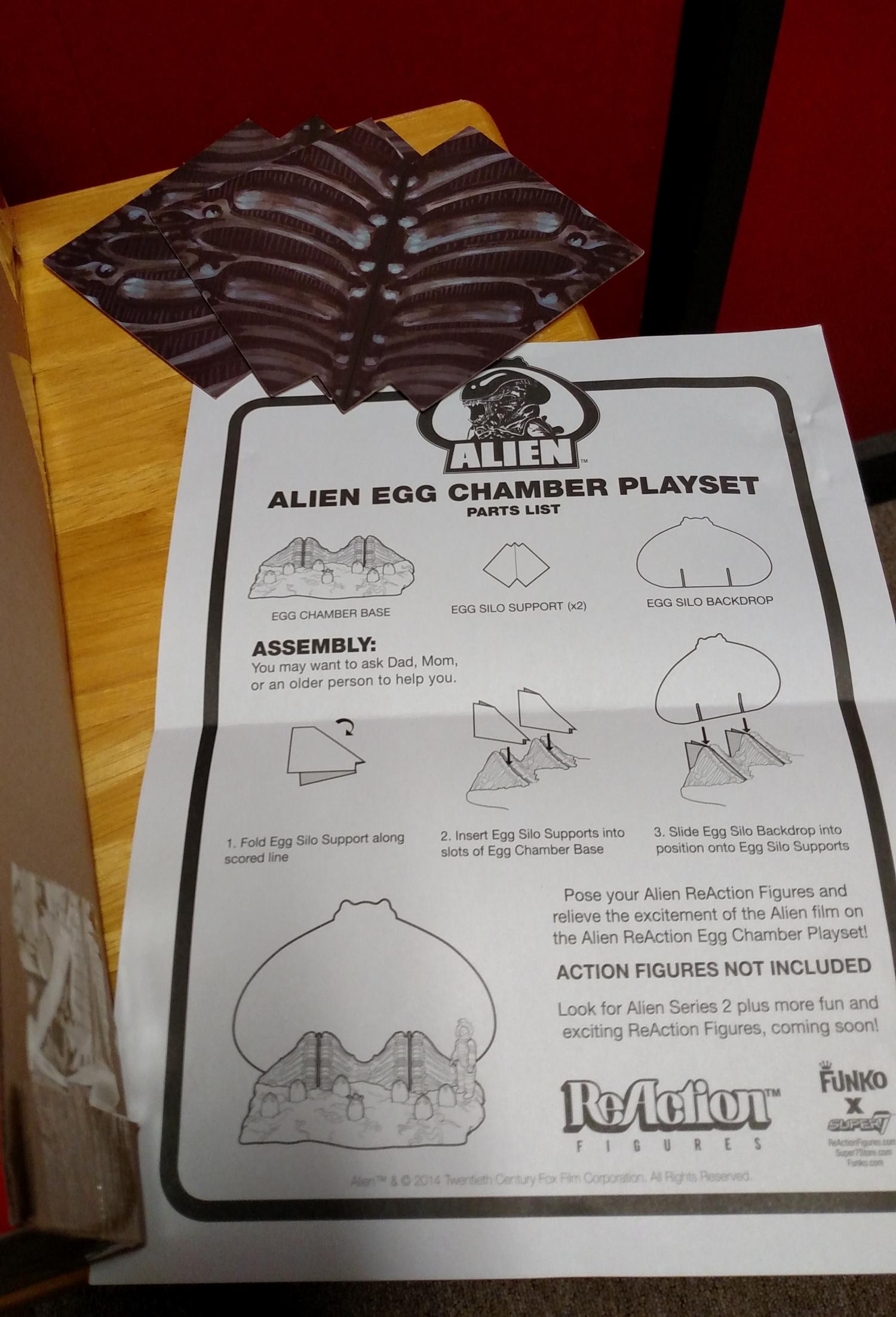 Alien Egg Chamber - Instructions