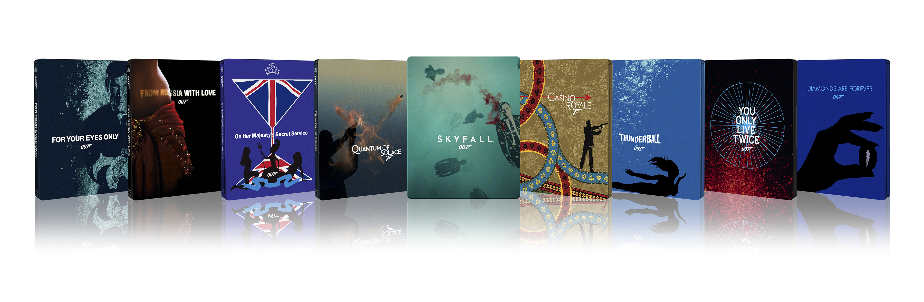 007 James Bond SteelBooks 2015