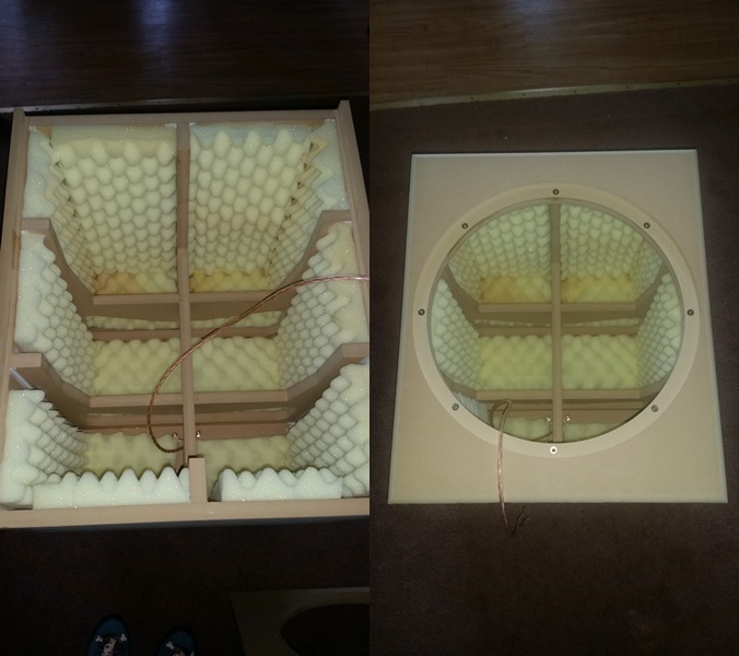Egg-crate foam in the interior
