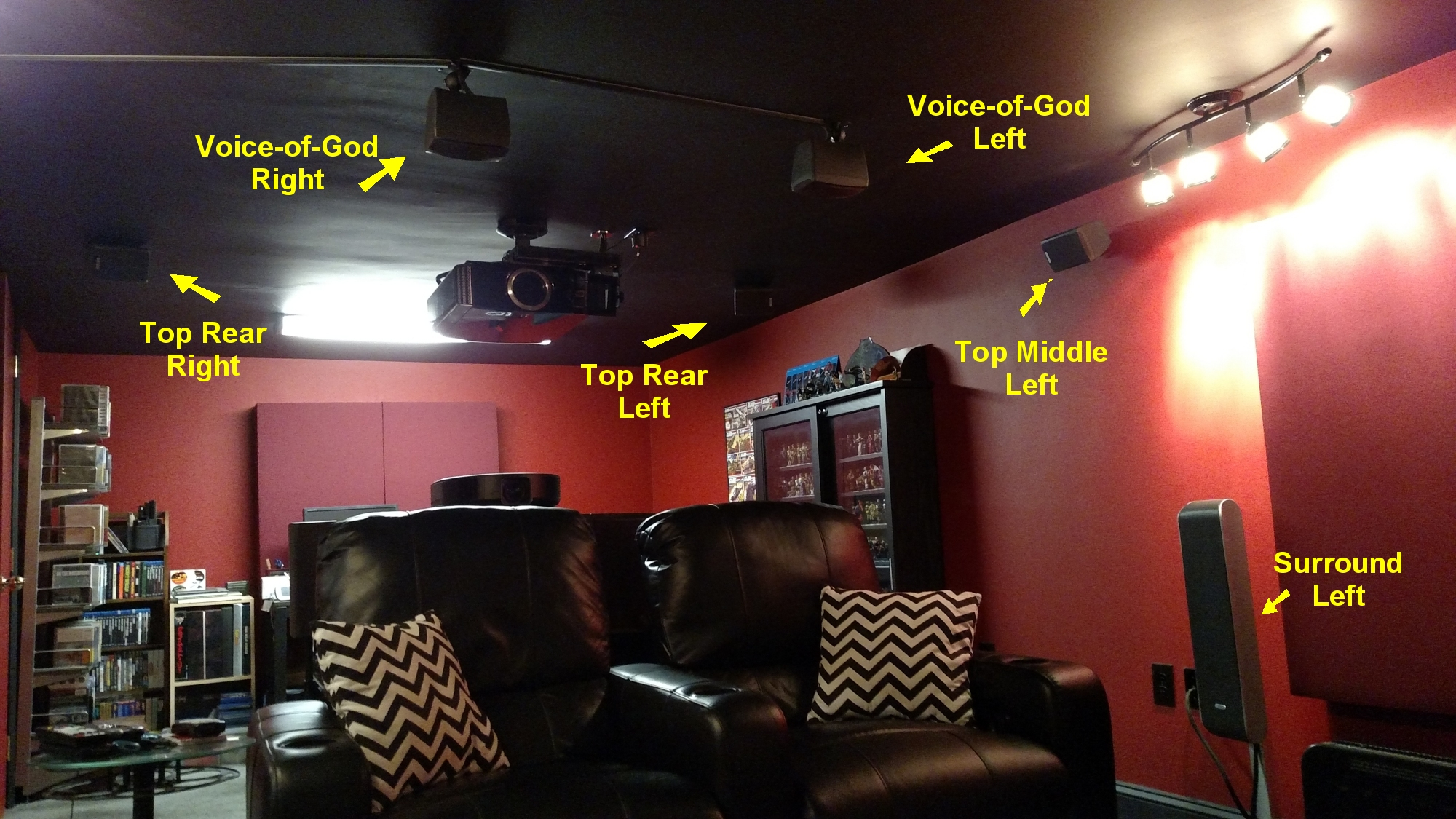 No Such Thing As Too Many Speakers Customizing A Dolby Atmos Wiring Home Ceiling In Order To Drive This Channels I Need Simultaneously Run Two Theater V Receivers The Primary Unit Is Denon Avr X5200w Model