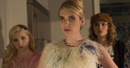 "SCREAM QUEENS: Pictured L-R: Abigail Breslin as Chanel #5, Emma Roberts as Chanel Oberlin, Skyler Samuels as Grace, Keke Palmer as Zayday and Jeanna Han as Sam in ""Pilot,"" the first part of the special, two-hour series premiere of SCREAM QUEENS airing Tuesday, Sept. 22 (8:00-10:00 PM ET/PT) on FOX. ©2015 Fox Broadcasting Co. Cr: Steve Dietl/FOX."