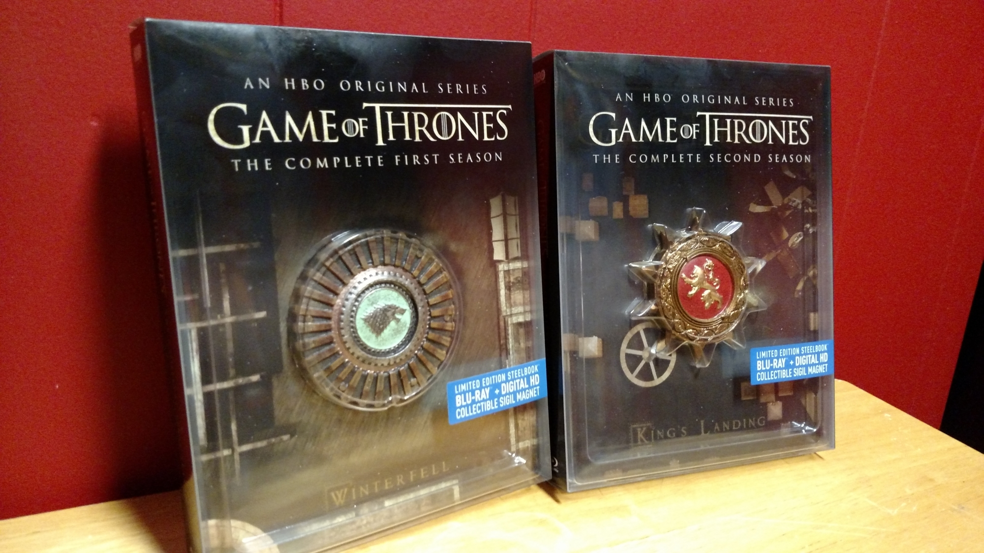 Game of Thrones SteelBooks Front