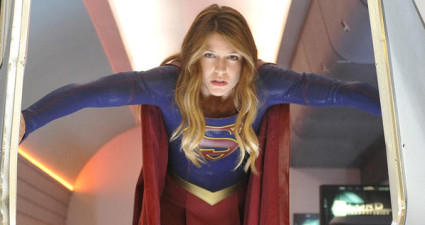 """""""How Does She Do It?"""" -- Kara's (Melissa Benoist, pictured) two identities are stretched thin when Supergirl must protect National City from a series of bombings and Kara is tasked with babysitting Cat's son, Carter, on SUPERGIRL, Monday, Nov. 16 (8:00-9:00 PM, ET/PT) on the CBS Television Network.  Photo: Darren Michaels/Warner Bros. Entertainment Inc. © 2015 WBEI. All rights reserved."""