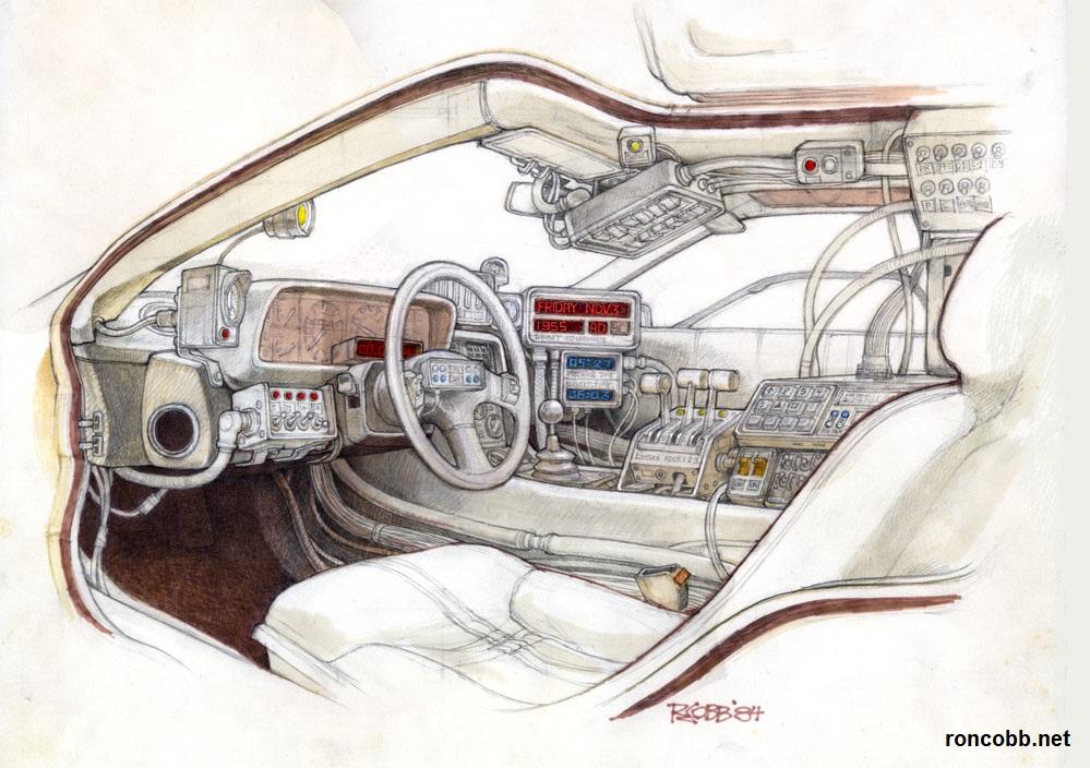 Back to the Future DeLorean Interior
