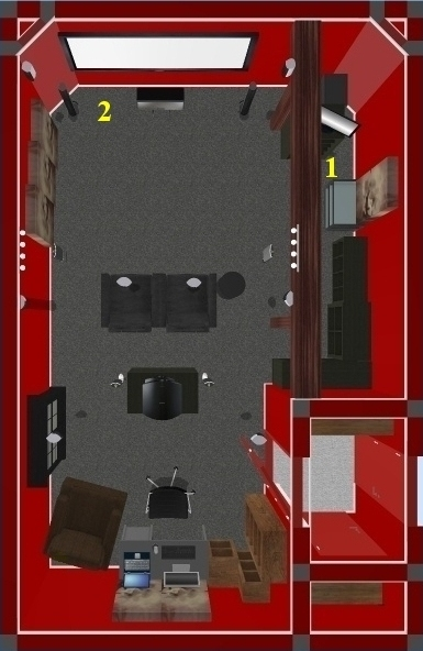 Cinema Zyberdiso Room Layout