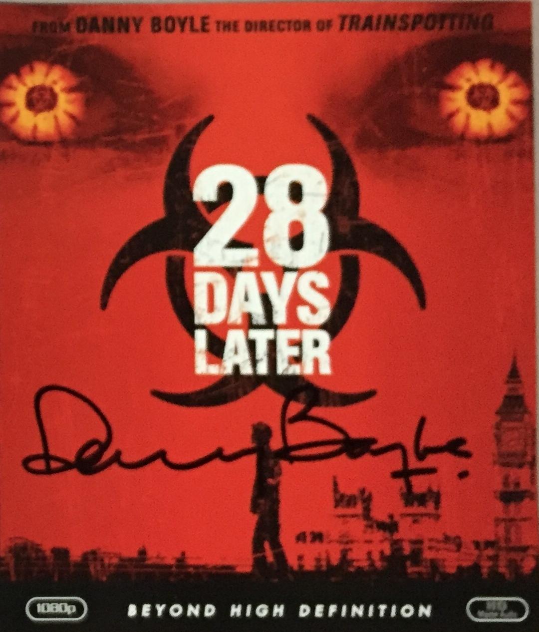 28 Days Later Danny Boyle Autograph