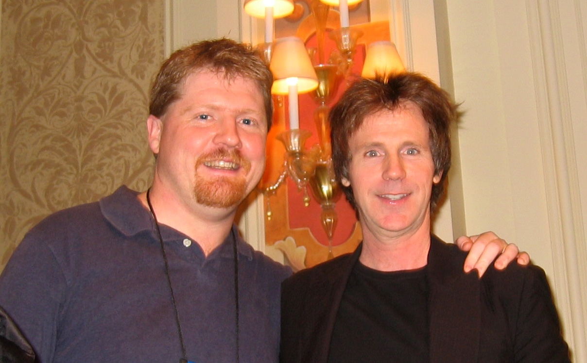 Chris with Dana Carvey
