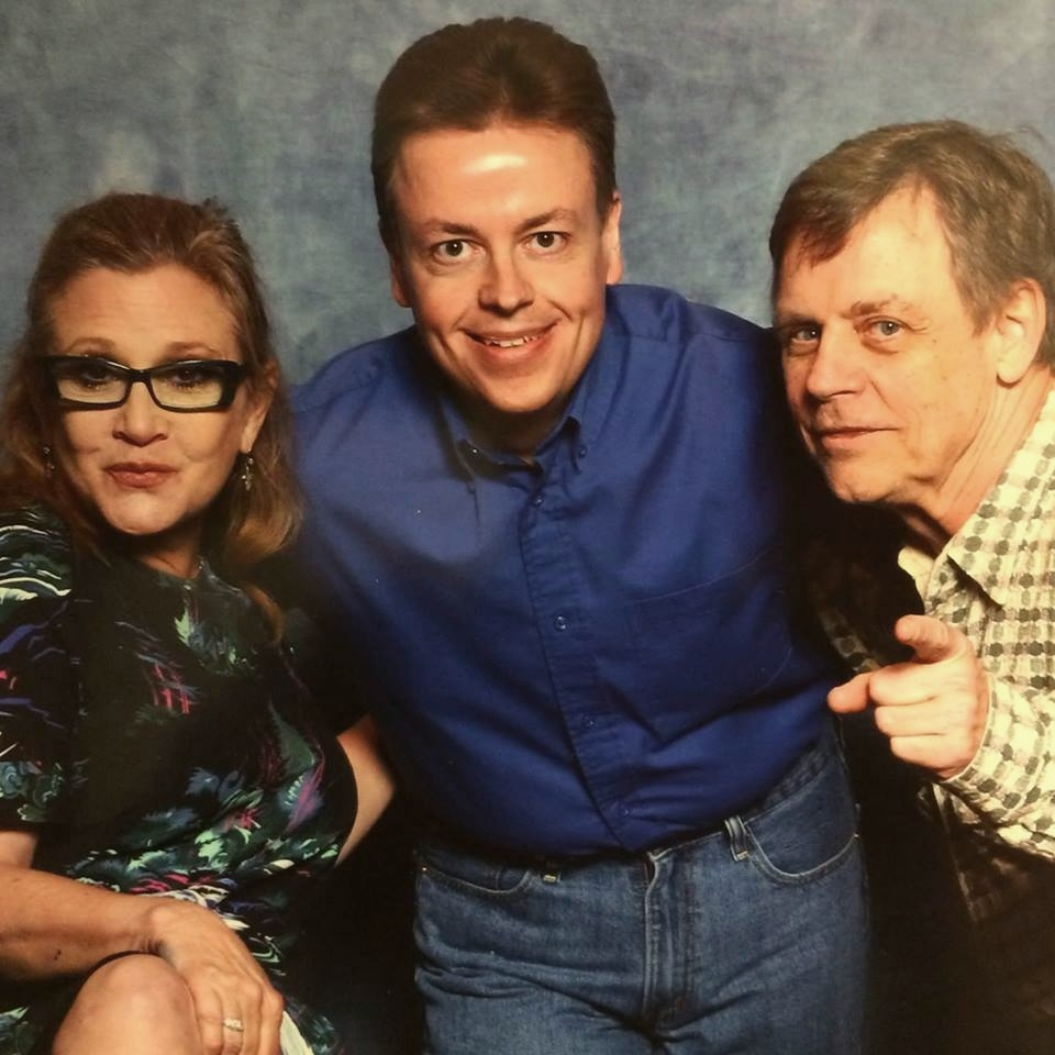 Shannon with Carrie Fisher and Mark Hamill