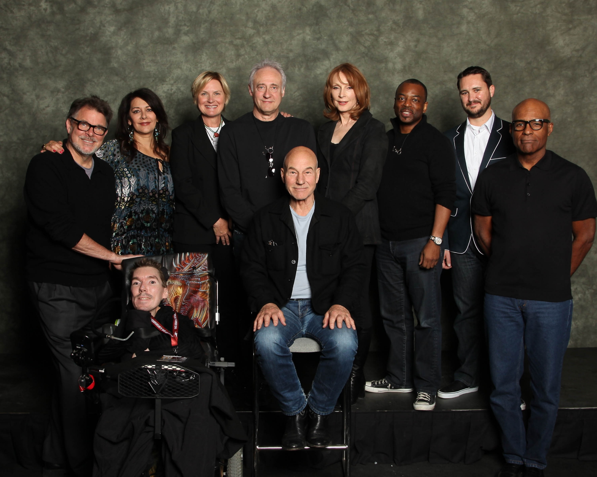 Tom and the Star Trek: TNG cast