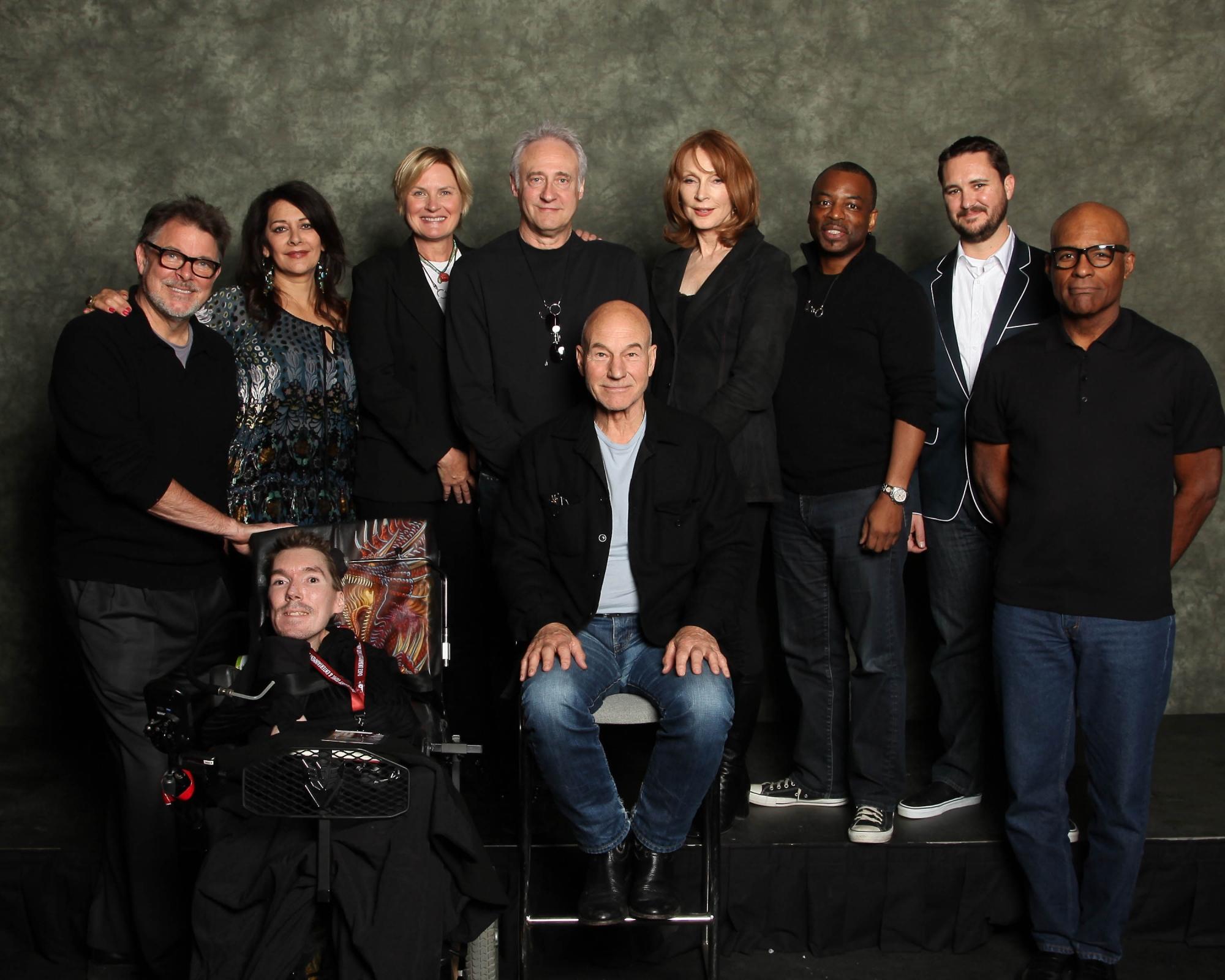 Tom and the Star Trek: TNG cast