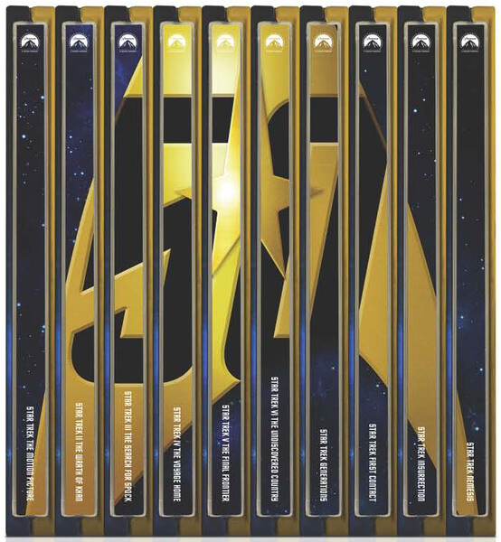 Star Trek SteelBooks spine art