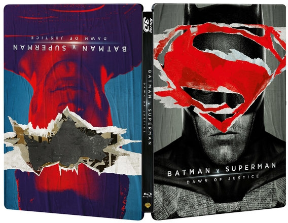 Batman v Superman UK SteelBook - Reversible Art