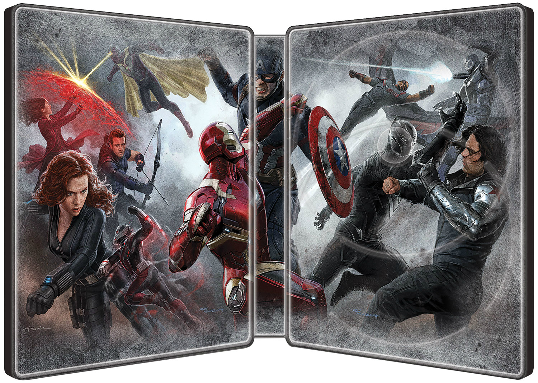 Captain America Civil War SteelBook inside