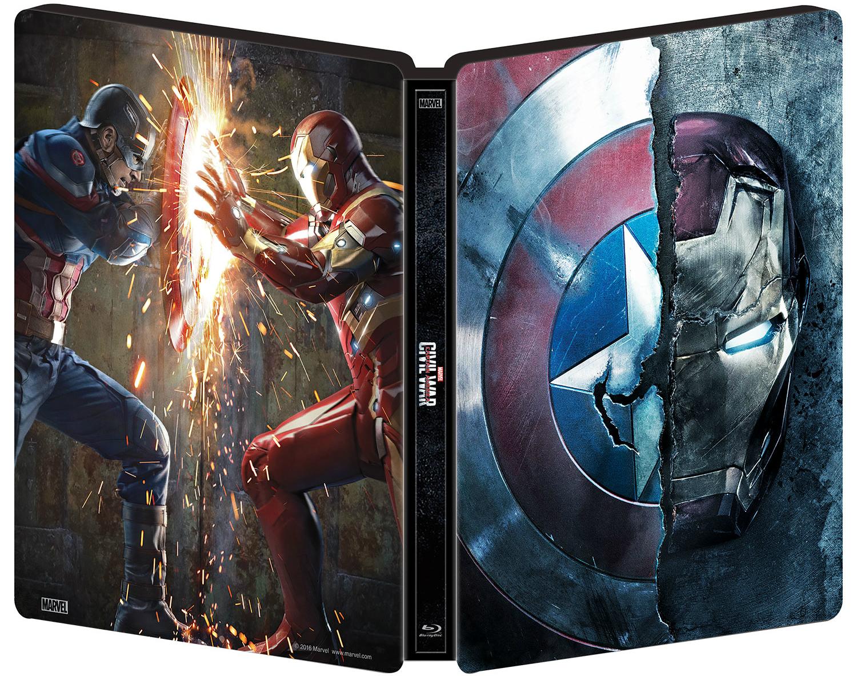Captain America Civil War SteelBook outside