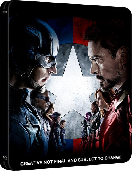 Captain America Civil War UK SteelBook