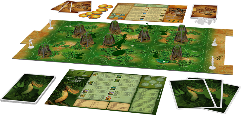 'Raptor board game setup
