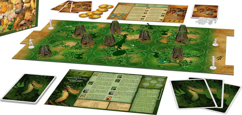 'Raptor board game setup