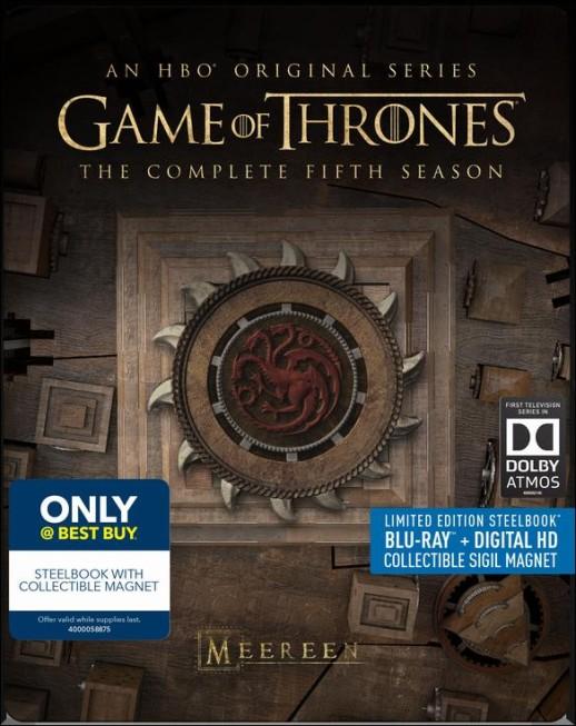 Game of Thrones Season 5 SteelBook