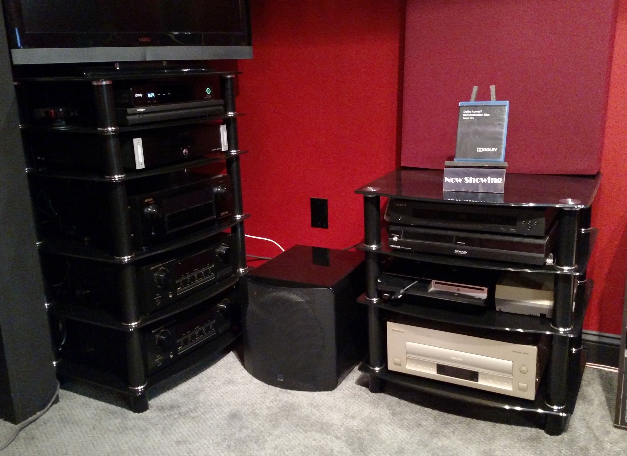 Home Theater Component Racks