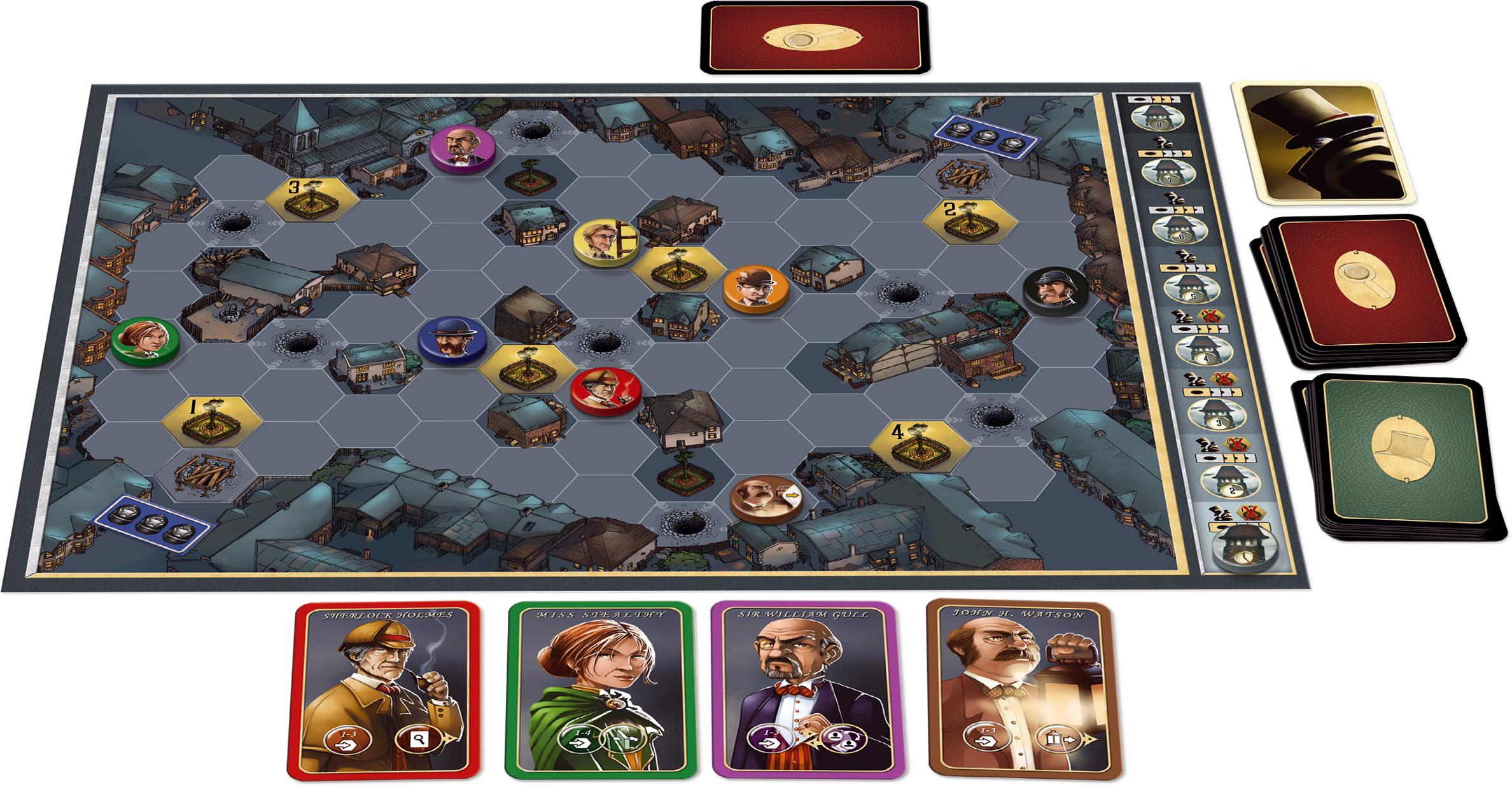 'Mr. Jack Board Game Setup