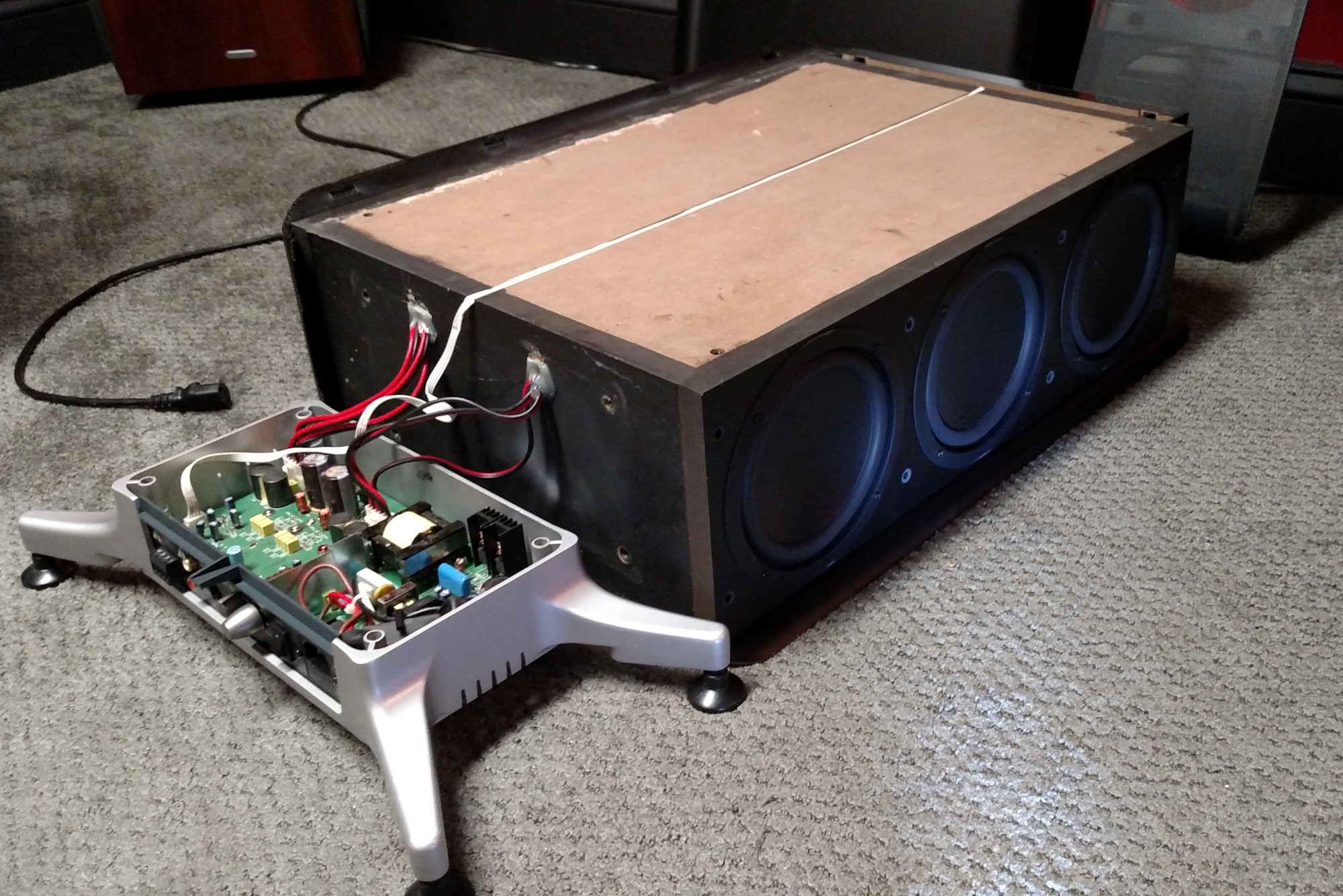 P300HD Subwoofer Disassembled