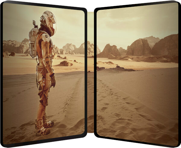 The Martian SteelBook inside
