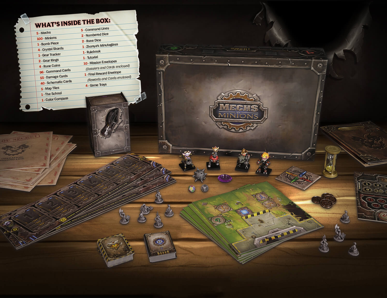What's inside the Mechs vs Minions game