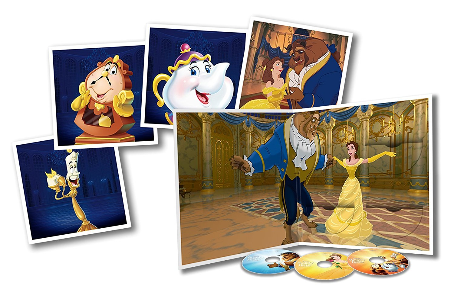 Beauty and the Beast Big Sleeve Blu-ray contents