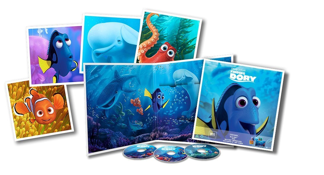 Finding Dory Big Sleeve Blu-ray contents