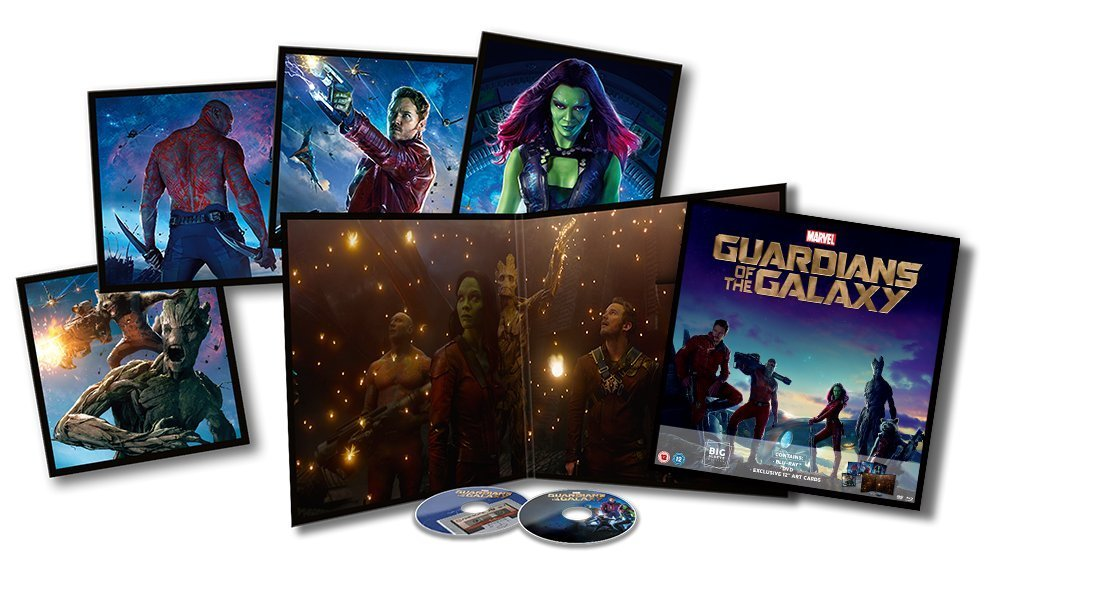 Guardians of the Galaxy Big Sleeve Blu-ray contents