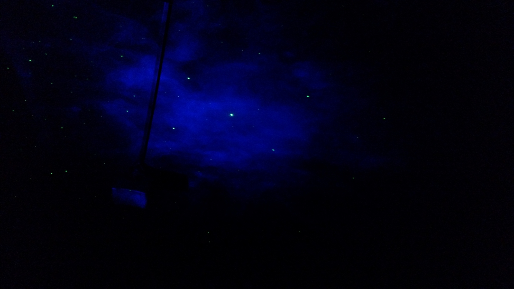 Laser Stars projector with nebula cloud