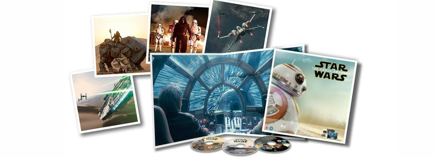 Star Wars The Force Awakens Big Sleeve Blu-ray contents