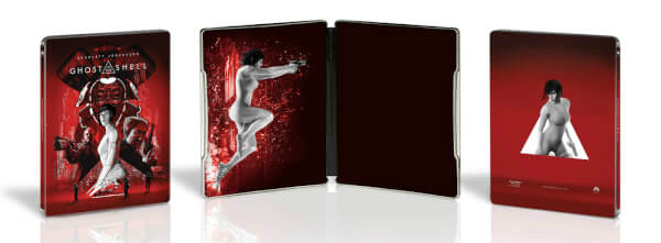 Ghost in the Shell 2017 SteelBook interior