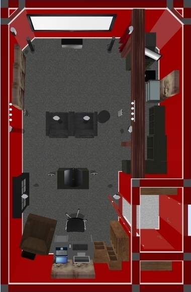Home Theater Overhead View