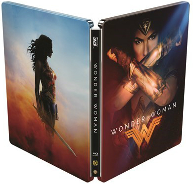 Wonder Woman UK & Hong Kong SteelBook SteelBook front and back