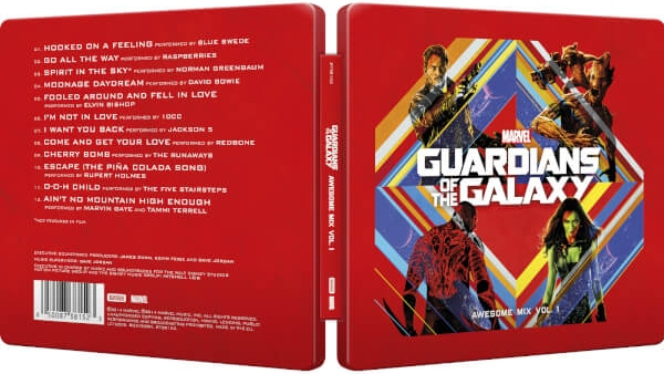 Guardians of the Galaxy Awesome Mix Vol. 1 Soundtrack CD SteelBook open