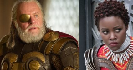 Anthony Hopkins, Lupita Nyong'o and Tilda Swinton in Marvel movies