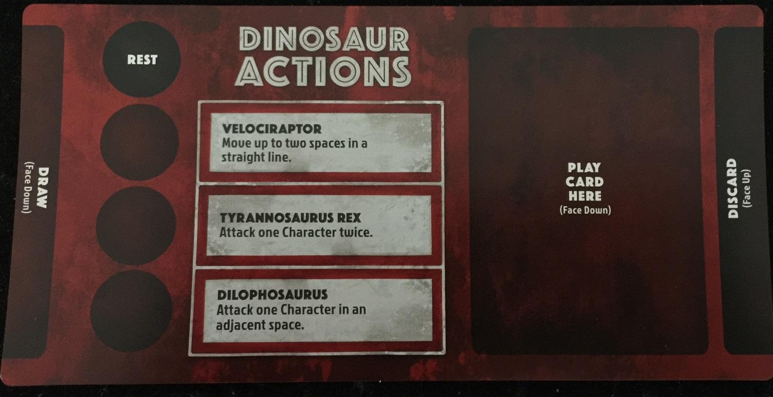 'Jurassic Park: Danger! Dinosaur Player Mat