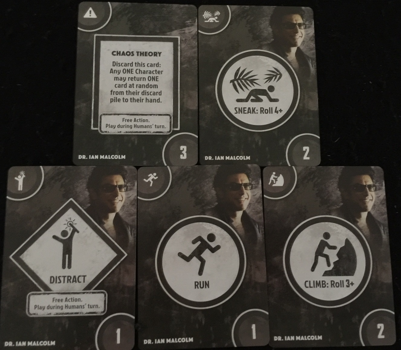 'Dr. Ian Malcolm's Action Cards