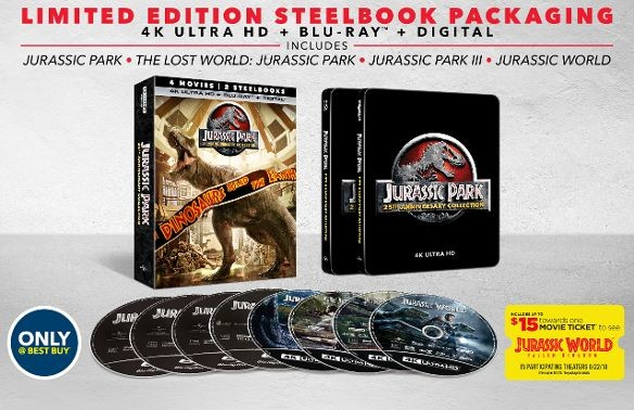 Jurassic Park: 25th Anniversary Collection Ultra HD SteelBook