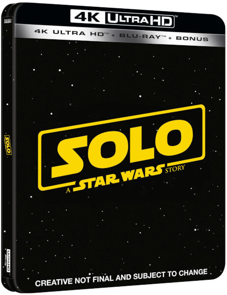 Solo: A Star Wars Story SteelBook - Zavvi 4k